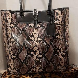 Dooney & bourke python embossed Travel bag